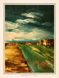 Field Flower Garden House Maurice de Vlaminck Art Homes