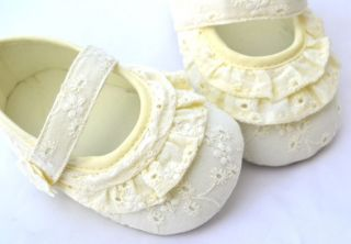 Yellow Mary Jane Kids Infant Toddler Baby Girl Shoes Size 1 2 3