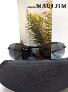 Maui Jim Makaha 405 02 Gloss Black Frame Neutral Grey Lens Sunglasses