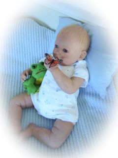 Reborn Baby Doll Sweet Baby Boy Jacob So Realistic with Human Hair