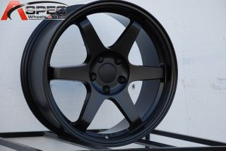 18x8 5 Varrstoen ES221 5x100 45 56 1 Matt Black Wheel Fits Scion Fr s