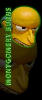 Mr Montgomery Burns Latex Mask Simpsons Halloween Prop