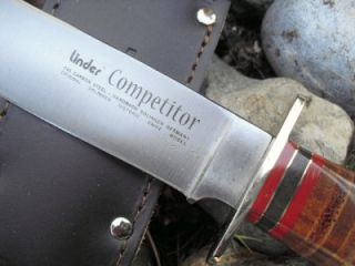 Linder Competitor Throwing Bowie C60 Carbon Steel Knife Outdoors