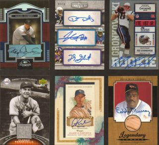 Game Used Lot Auto Patch Jersey 1 1 Pujols Brady Tebow Ruth Rodgers
