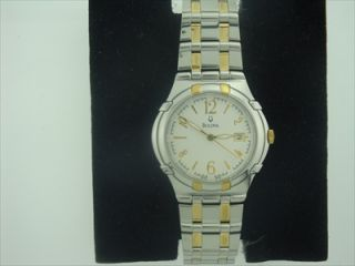 Bulova Mens Two Tone Dress Watch 98H02