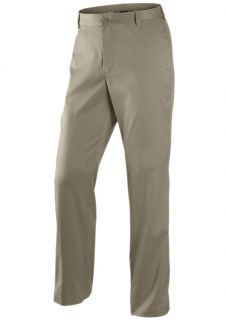 New Nike Dri Fit Flat Front Tech Mens Golf Pant Khaki Side Vents Multi