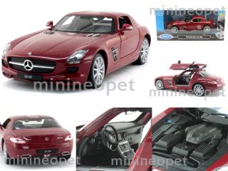 Welly Mercedes Benz SLS AMG Gullwing 1 24 Diecast Red
