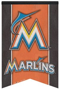 Miami Marlins New 2012 MLB Baseball Premium Felt Team Banner