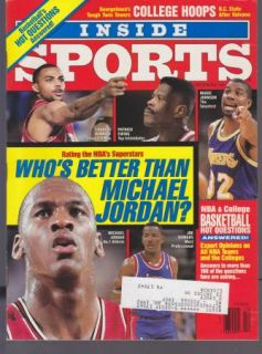 Vintage Inside Sports Magazine Michael Jordan Chicago Bulls NBA