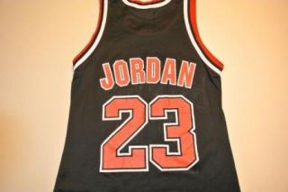Michael Jordan Chicago Bulls Black Jersey Size 36