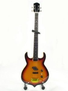 Miniature Guitar Gene Simmons KISS PUNISHER Bass Sunburst