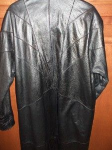 Middlebrook Park Genuine Leather Long Ladies Winter Trench Coat Black