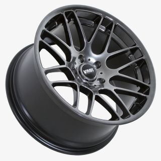 VMR VB3 Hyper Black Wheels Rims Fit BMW E46 1995 2005 3 Series