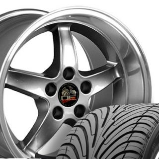 17 9 10 5 Gunmetal Cobra Wheels ZR Tires Rims Fit Mustang® GT 94 04