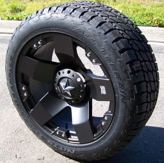 18 Rockstar Wheels Nitto Terra Grappler Tire Jeep JK