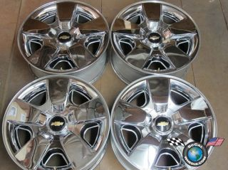 four 09 11 Chevy Tahoe Factory Chrome 20 Wheels OEM Rims Avalanche