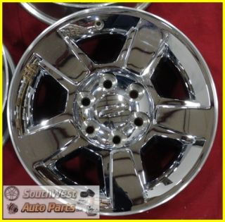 10 11 SILVERADO ESCALADE SIERRA 18 CHROME CLAD WHEELS USED OEM RIMS