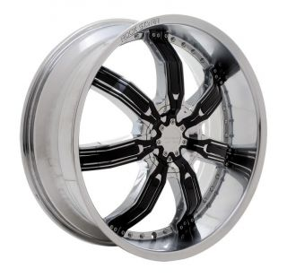 22 INCH RIMS AND TIRES WHEELS STARR 958 KILLA BLACK ACURA 20 24 26 28