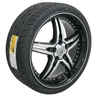 20x8 5 10 Lexani LX 15 Black 5x4 75 Wheels Rims Toyo Tires Set of 4