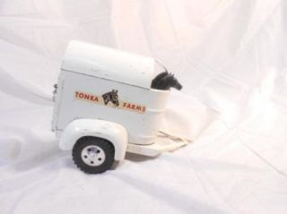 Vintage Tonka 1958 Farm Stake No 35 with 2 Horse Trailer