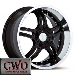 19 Black Ruff R930 Wheels Rims 5x114 3 5x120 5 Lug Altima Lexus BMW