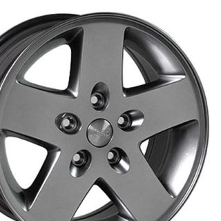 17 Hyper Silver Jeep Wrangler Wheels Set of 4 9075 Rims