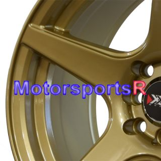 16 16x8 XXR 535 Gold Concave Rims Wheels 4x114 3 94 Honda Accord EX 96