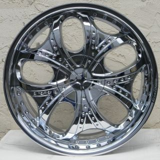 20 Chrome Cheetah Racing C71 Rims Wheels 20 inch SL55 65 Mustang