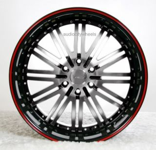 24 inch D1 Red Wheels Rims 300C Magnum Charger