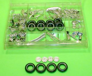 AMT 1963 Ford F 100 Pick Up Truck Rims + Chrome Parts Lot Tires Case