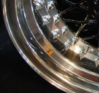 136 Chrome Pointy Split Rim Bolts M7 x 32 BBs RS Wheels