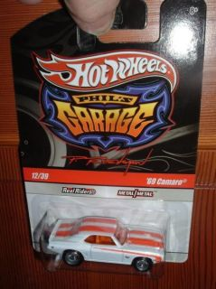 Hot Wheels Phils Garage 69 Camaro White Orange 12 39