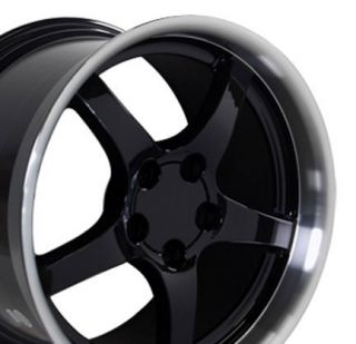 18 9 5 10 5 Black C5 Deep Dish Wheels Rims Fit Camaro Corvette