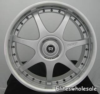 17x7 Silver Wheels Rims Motegi FF7 4x100 4x4 5