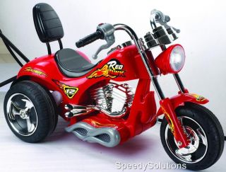 Motorcycle 12V Power Kids Harley Style Chopper Ride on Wheels