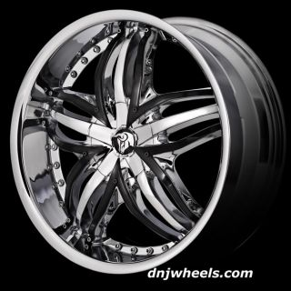 22 Diablo Dodge Charger Challenger Magnum Chrysler 200 300 300C Wheels