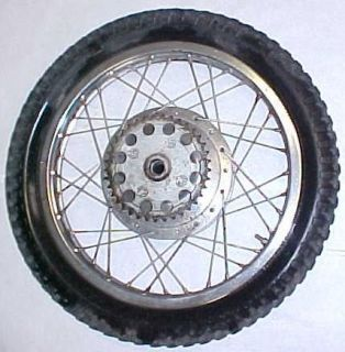 65 68 Honda CL77 305 Scrambler Rear Wheel Rim Tire