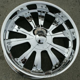 Falken Spine 22 Chrome Rims Wheels GMC Yukon 88 Up 22 x 9 5 6H 15