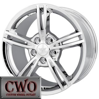 18 Chrome Detroit 875 Wheels Rims 5x4 75 5 Lug Corvette