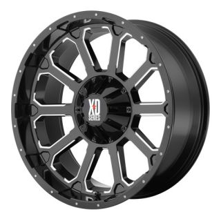XD806 BOMB XD80689080300 18X9 0MM OFFSET 8X6.5 G BLACK MACH SINGLE RIM