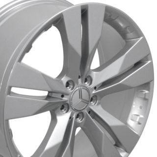 Class Style Silver Wheels Set of 4 Rims Fits Mercedes Benz 550 450 350