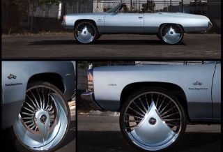 26 Dubskirt Series Azzmacka Spinner Floaters Chrome Wheels Impala