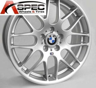 19 Wheels Tires Packages CSL Style Silver Rim Fit BMW E46 E90 M3 325