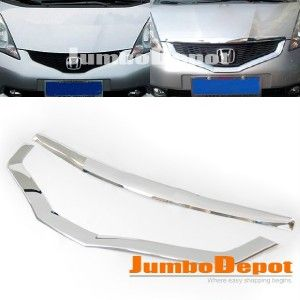 Chrome Front Grille Rim Trim for Honda Fit Jazz 2009 11