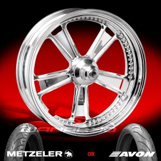 Performance Machine Judge Chrome Front Wheel and Tire for 2000 13