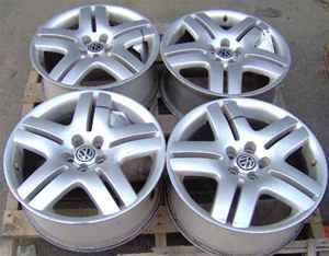 01 11 VW Jetta Rims 17 10 Spoke Wheels Set of 4