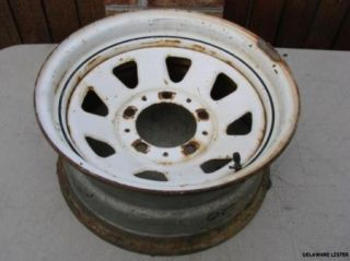 76 to 86 Jeep CJ 5 7 8 Series Steel Wheel Rim 15 x 7 White Spoke CJ5