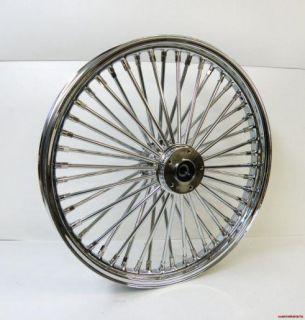 21 x 3 50 Chrome 48 Spoke Front Wheel for Harley Softail 84 99