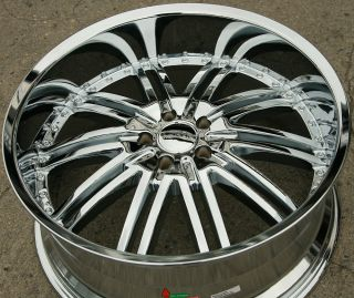 Menzari Z08 22 Chrome Rims Wheels Town Car 93 02 22 x 9 5 5H 18