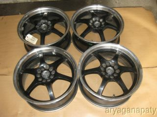 90 91 92 93 94 95 96 Nissan 300zx Raceline 17 Wheels Rims Black